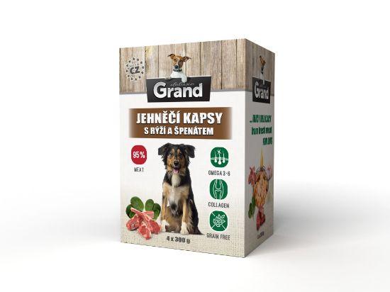Obrázek z Grand deluxe Dog jehněčí, kapsička 4 x 300 g