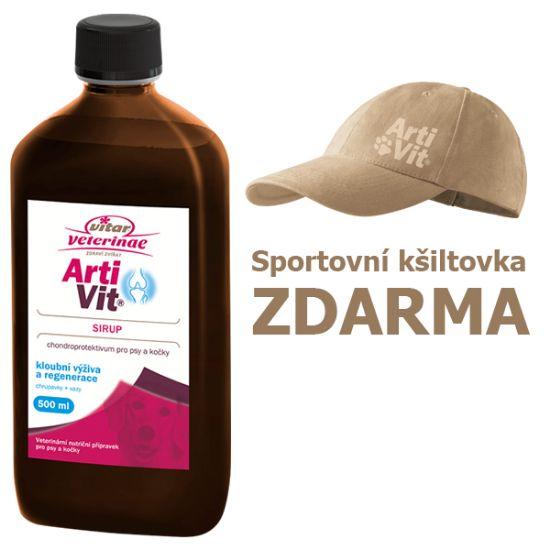 Obrázek z Vitar veterinae Artivit sirup 500 ml DÁREK KŠILTOVKA