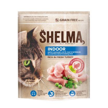 Obrázek SHELMA Cat Indoor Freshmeat Turkey GF 750 g