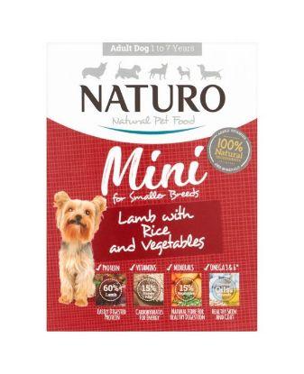 Obrázek Naturo Dog Adult Mini Lamb & Rice with Vegetables, vanička 150 g