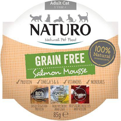 Obrázek Naturo Cat Salmon Mousse GF, vanička 85 g
