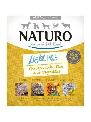 Obrázek Naturo Dog Light Chicken & Rice with Vegetables, vanička 400 g