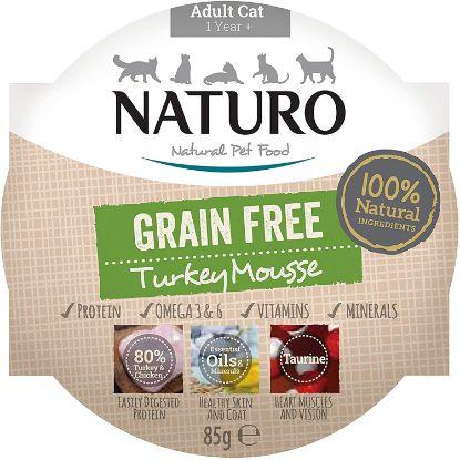 Obrázek Naturo Cat Turkey Mousse GF, vanička 85 g