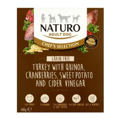 Obrázek Naturo Chefs Dog Adult Turkey & Quinoa GF, vanička 400 g