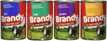 Obrázek Brandy Dog Variety Chunks 4 druhy, konzerva 395 g (pack 12 ks)