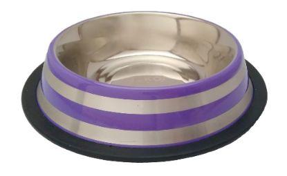 Obrázek Miska nerez stabilní fialová 0,25 l