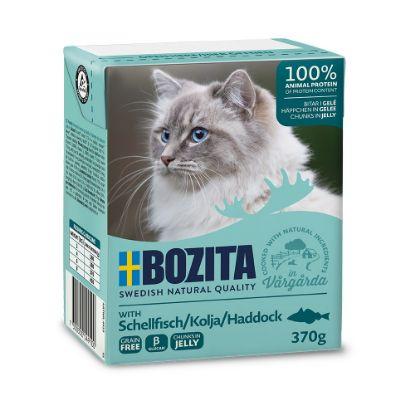 Obrázek Bozita Cat kousky v želé s treskou, kapsička 370 g