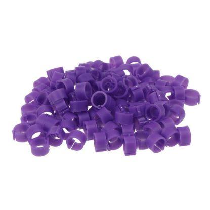 Obrázek Kroužky zámkové plast 16 mm, fialová