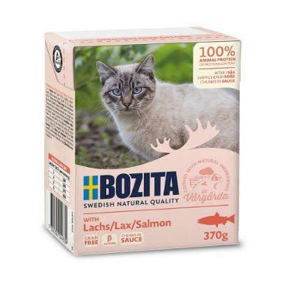 Obrázek Bozita Cat kousky v omáčce s lososem, kapsička 370 g