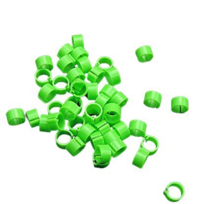 Obrázek Kroužky zámkové plast 16 mm, zelená