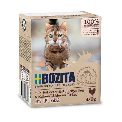 Obrázek Bozita Cat kousky v omáčce s kuřecím a krůtím, kapsička 370 g