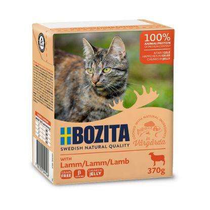 Obrázek Bozita Cat kousky v želé s jehněčím, kapsička 370 g