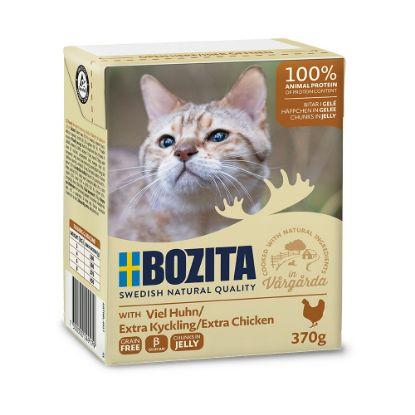 Obrázek Bozita Cat kousky v želé s kuřecím, kapsička 370 g
