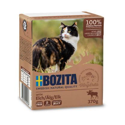 Obrázek Bozita Cat kousky v želé s losím, kapsička 370 g